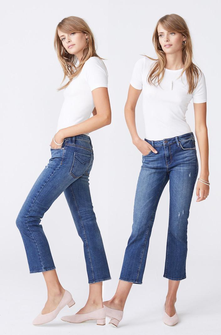 Unpublished Jeans Cropped Mi-haute Unpublished Margaux