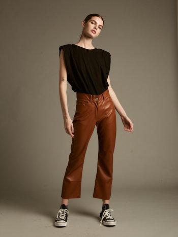 Dèluc Pantalon Taille Haute 100% PU Harper Deluc 10200D