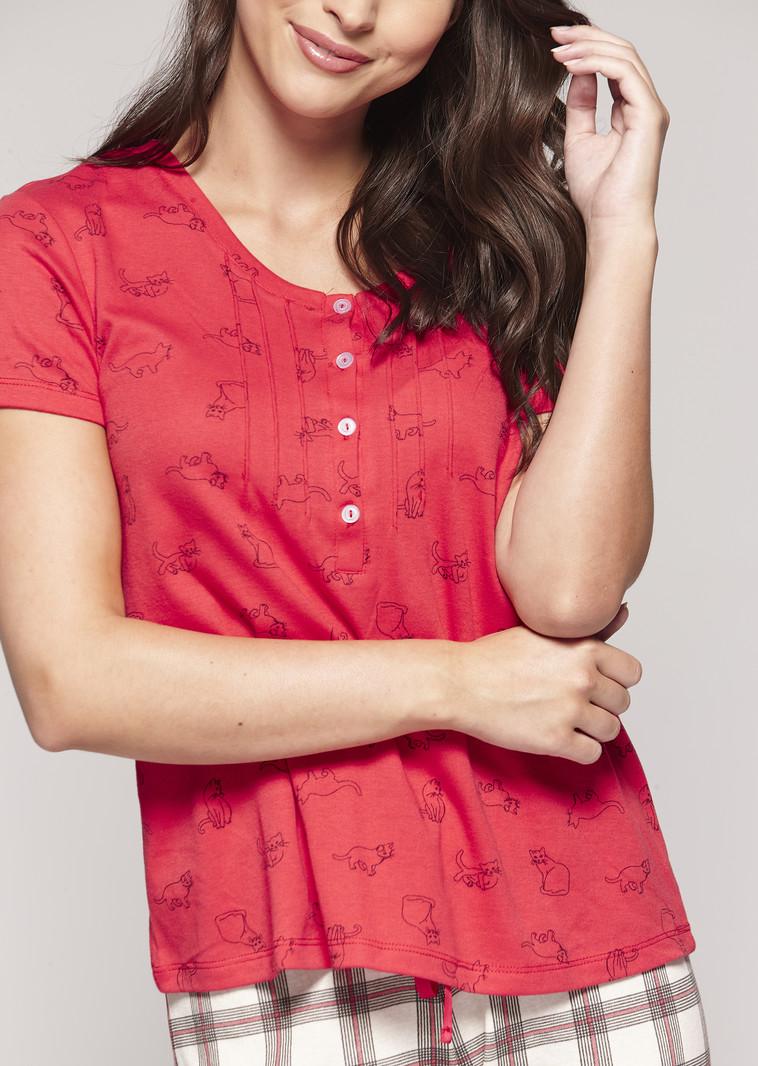 Claudel Pyjama 2 pcs Capri/T-Shirt Chat Claudel LI117490