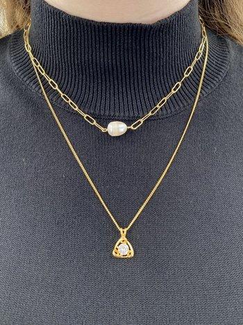 Looli Collier Double Perle/Zircon Looli LJ1791