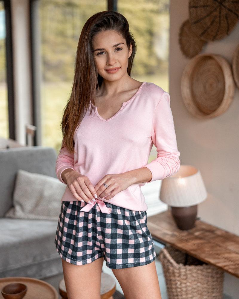 Sensis Pyjama 2 pcs Chandail et Short à Carreaux Sensis Allure