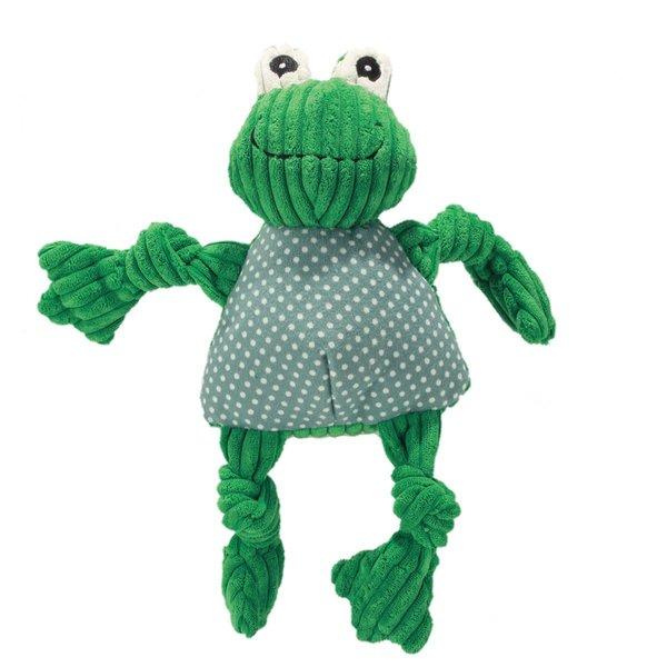 Huggle Hound Frog Knottie Dog Toy