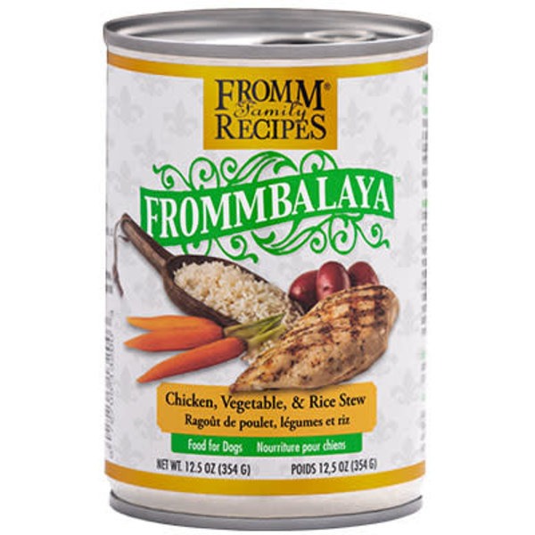 Fromm Dog Canned Food, Frommbalaya Chicken, Vegetable, and Rice Stew, 12.5 oz