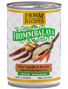 Fromm Dog Canned Food, Frommbalaya Turkey, Vegetable, and Rice Stew 12.5 oz
