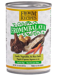 Fromm Dog Canned Food, Frommbalaya Lamb, Vegetable, and Rice Stew 12.5 oz