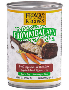 Fromm Dog Canned Food, Frommbalaya Beef, Vegetable, and Rice Stew 12.5 oz