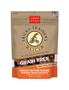 Cloud Star Tricky Trainers Chewy Peanut Butter, 5 oz bag