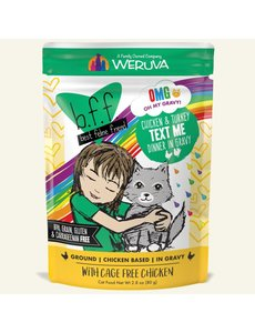 Weruva BFF OMG! Cat Food Pouch, Text Me 2.8 oz pouch
