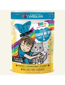 Weruva BFF OMG! Cat Food Pouch, Charge Me Up 2.8 oz pouch