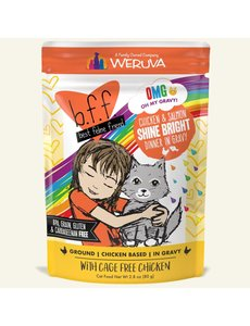 Weruva BFF OMG! Cat Food Pouch, Shine Bright 2.8 oz pouch