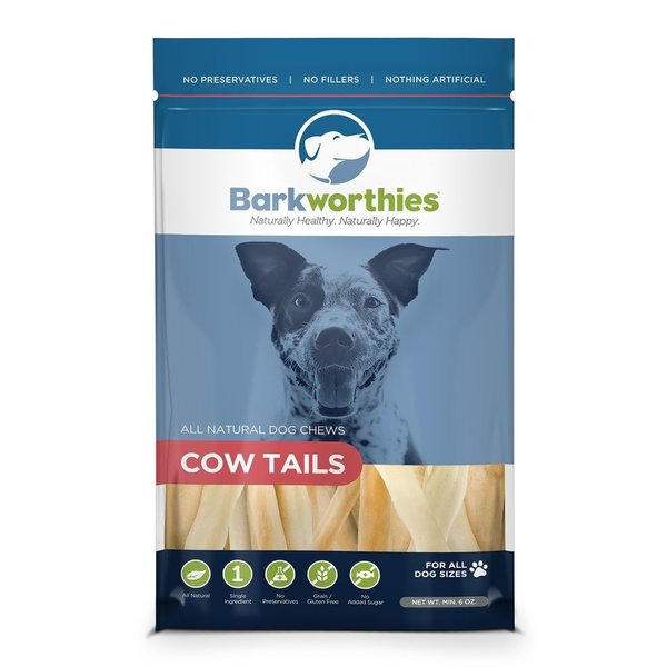 Barkworthies Barkworthies Cow Tails, 6 oz bag