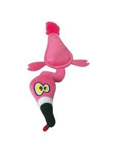 Hear Doggy Flats Pink Flamingo Dog Toy