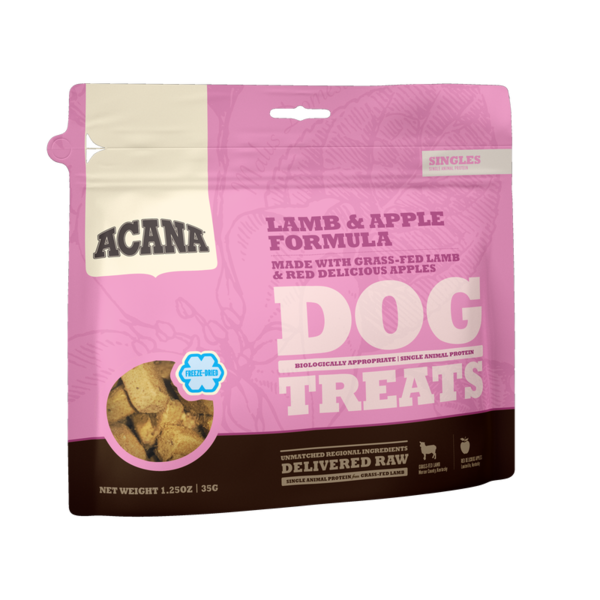 Acana Acana Lamb & Apple Dog Treat, 3.25 oz bag