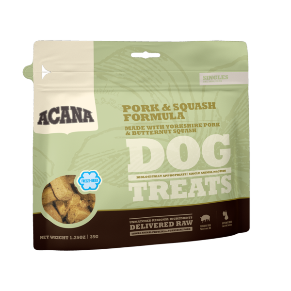Acana Acana Pork & Squash Dog Treat, 3.25 oz bag