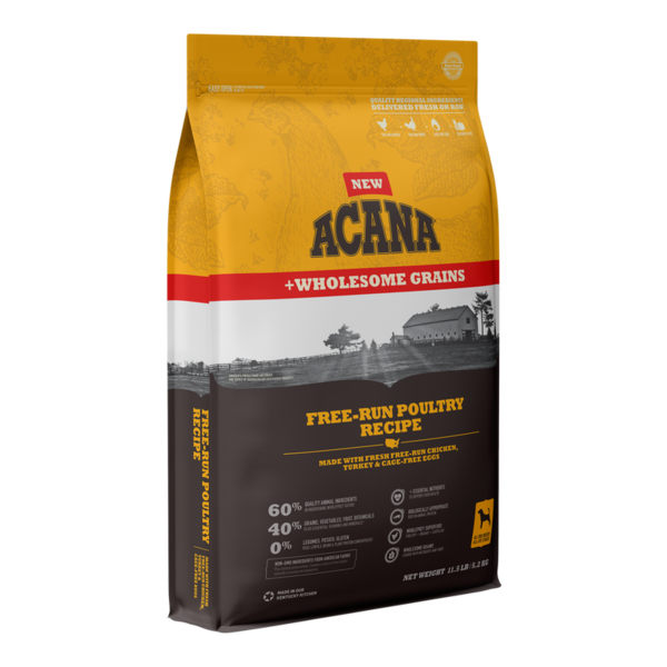Acana Wholesome Grains Dry Dog Food, Free-Run Poultry