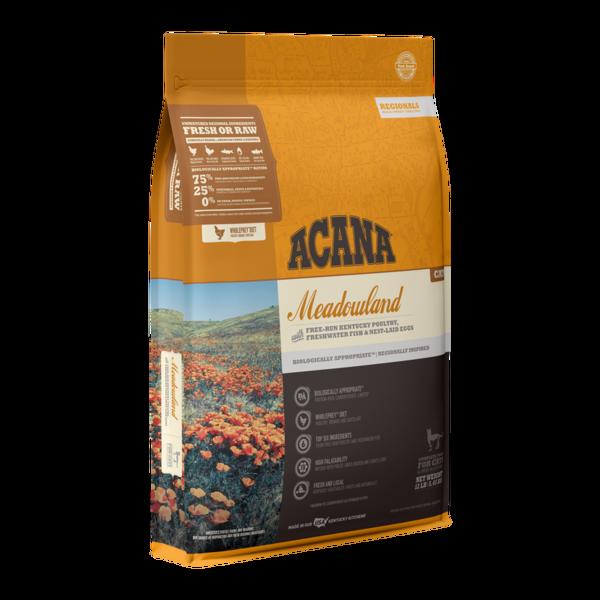 Acana Meadowlands Dry Cat Food, 4 lb bag