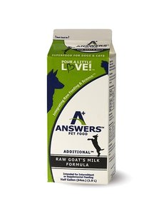 Answers Answers Pet Food Additional Goat's Milk, 64oz (1/2 Gallon)