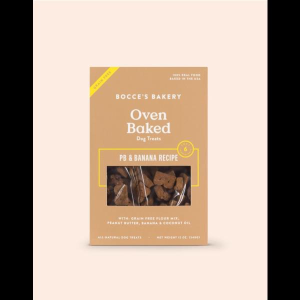 Bocce's Grain-Free Peanut Butter & Banana Dog Treat, 12 oz box