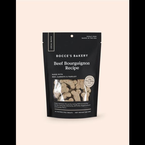 Bocce's Beef Bourguignon Dog Treat, 8 oz bag