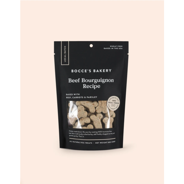 Bocce's Bocce's Bakery Beef Bourguignon Dog Treat, 8oz bag