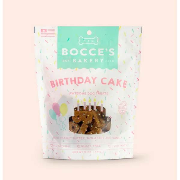 Bocce's Birthday Cake Dog Treat, 5 oz bag
