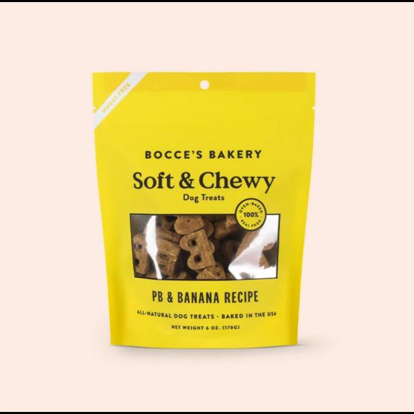 Bocce's Soft & Chewy PB and Banana Dog Treats, 6oz bag