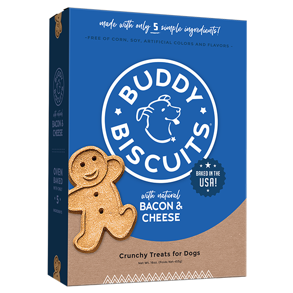 Cloud Star Cloud Star Buddy Biscuits with Bacon & Cheese Oven Baked Dog Treat, 3.5 lb bag