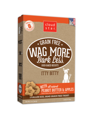 Cloud Star Cloud Star Wag More Bark Less Itty Bitty Biscuits with Peanut Butter, 7 oz box