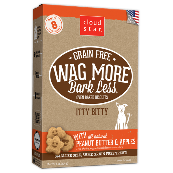 Cloud Star Wag More Bark Less Itty Bitty Biscuits with Peanut Butter, 7 oz box