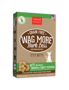 Cloud Star Cloud Star Wag More Bark Less Itty Bitty Biscuits with Sweet Potato, 7 oz box