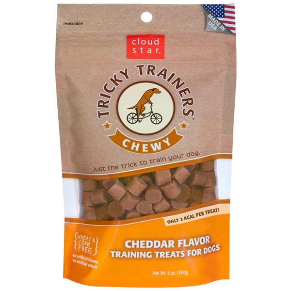 Cloud Star Tricky Trainers Soft & Chewy Cheddar, 5 oz bag