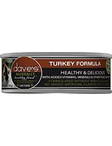 Dave's Pet Food Turkey Cat Can Food, 5.5 oz can