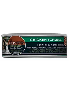 Dave's Pet Food Dave's Naturally Healthy Chicken Cat Can Food, 5.5 oz can
