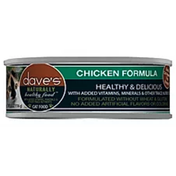 Dave's Pet Food Chicken Cat Can Food, 5.5 oz can