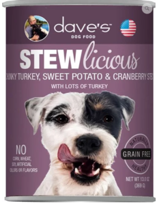 Dave's Pet Food Dave's Grain Free Stewlicious Chunky Turkey Dog Food, 13 oz can
