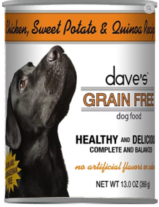 Dave's Pet Food Chicken & Quinoa Dog Food, 13 oz can