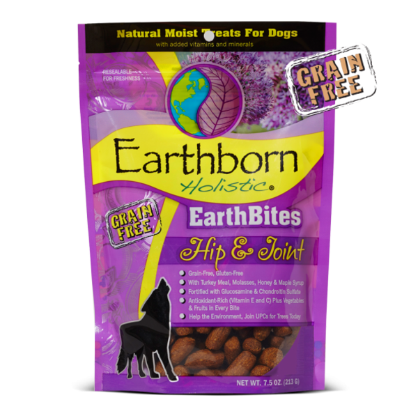 Earthborn Earthborn EarthBites Holistic Grain Free Hip & Joint Treats, 7.5 oz bag