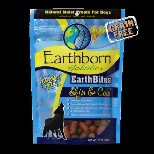 Earthborn Earthborn EarthBites Holistic Grain Free Skin & Coat Treats, 7.5 oz bag