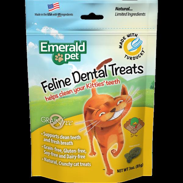 Emerald Pet Smart N Tasty Feline Dental Treats, Turducky Formula, 3 oz bag