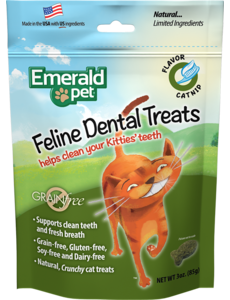 Emerald Pet Smart N Tasty Feline Dental Treats, Catnip Formula, 3 oz bag