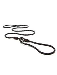 Ezy Dog Luca 9 mm Rope Leash, Black