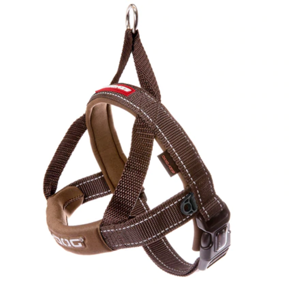 Ezy Dog Quick Fit Harness Chocolate, Large