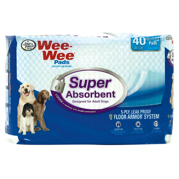 Four Paws Wee Wee Pads Super Absorbent, 40 ct pads
