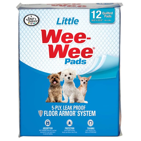 Four Paws Wee-Wee Little Dog Housebreaking Pads, 12 ct pads