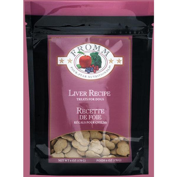 Fromm Four Star Liver Dog Treat, 6 oz bag
