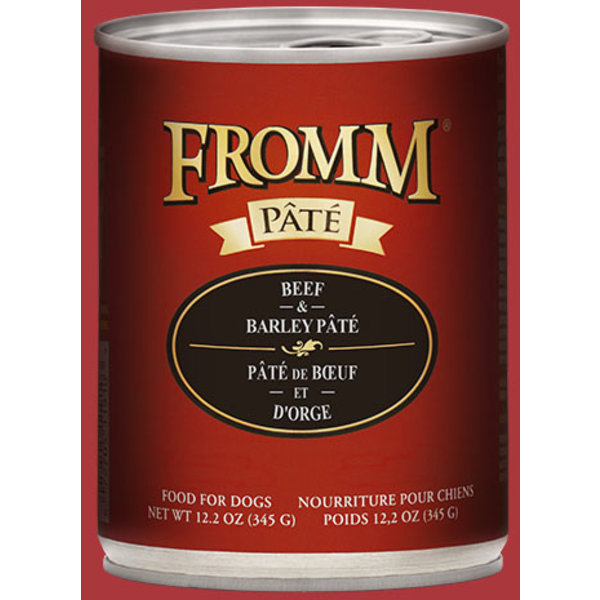 Fromm Beef & Barley Pate Canned Dog Food, 12.2 oz can