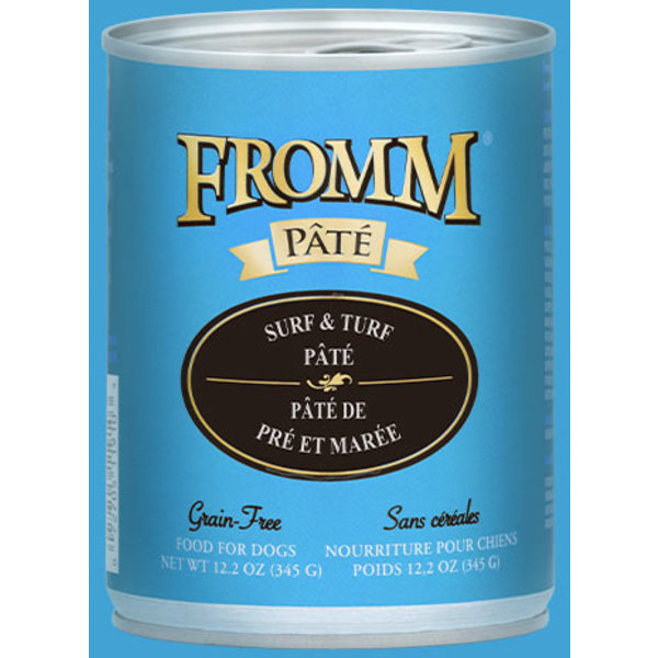 Fromm Surf & Turf Pate Canned Dog Food, 12.2 oz can