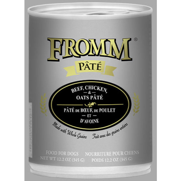 Fromm Beef, Chicken & Oats Pate Canned Dog Food, 12.2 oz can