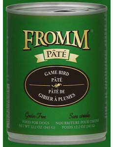 Fromm Game Bird Pate Canned Dog Food, 12.2 oz can