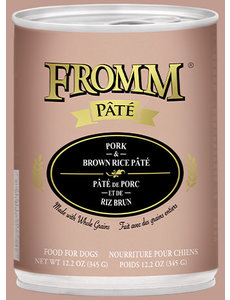 Fromm Pork & Brown Rice Pate Canned Dog Food, 12.2 oz can